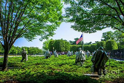 Korean War Veterans Memorial #8 Poster by Julian Starks