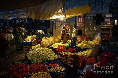 Poster featuring the photograph Koyambedu Chennai Flower Market Predawn by Mike Reid