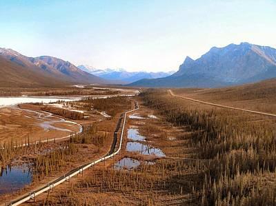 Poster featuring the photograph Koyukuk River Valley by Adam Owen