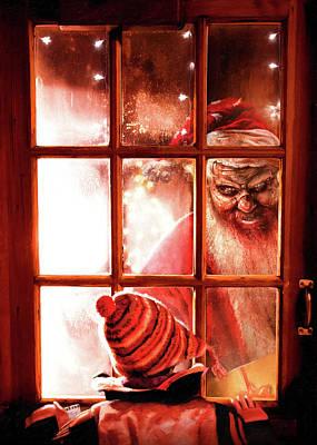 Krampus Poster by Joe Roberts