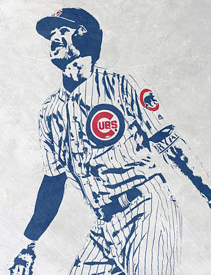 kris bryant CHICAGO CUBS PIXEL ART 1 Poster by Joe Hamilton