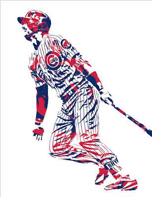 Kris Bryant Chicago Cubs Pixel Art 12 Poster