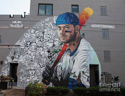 Kris Bryant Mural Poster by Timothy Johnson