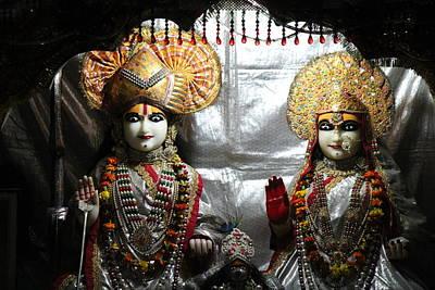Krishna And Radha, Vrindavan Poster by Jennifer Mazzucco