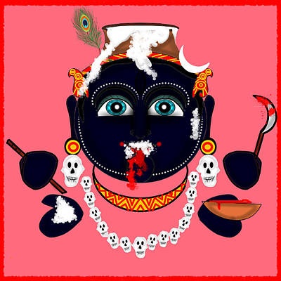 Krishna Kali Poster by Pratyasha Nithin