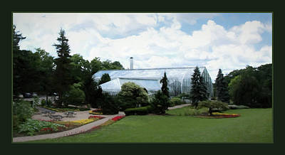 Krohn Conservatory With Border Poster