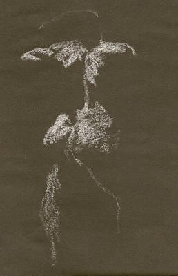 Kroki 1997, Pre.3 Vit Krita, Figure Drawing White Chalk Poster