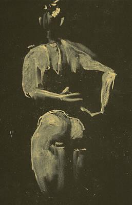kroki 2014 09 27_4 figure drawing white chalk Marica Ohlsson Poster