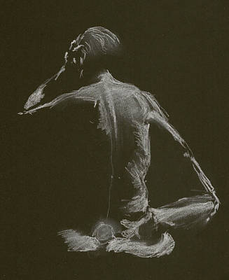 Kroki 2015 01 10_14 Figure Drawing White Chalk Poster
