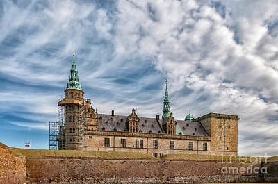 Poster featuring the photograph Kronborg Castle In Denmark by Antony McAulay