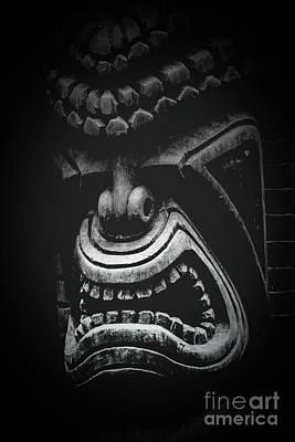 Ku Kii Tiki Hawaiian Culture Wood Carvings Demigods Poster