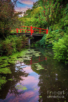 Kubota Gardens Bridge Number 1 Poster by Inge Johnsson