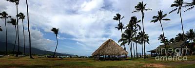 Kukulu Hale Kahului Maui Hawaii Panorama Poster by Sharon Mau