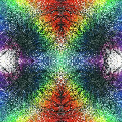 Kundalini Awakening #1553 Poster by Rainbow Artist Orlando L aka Kevin Orlando Lau