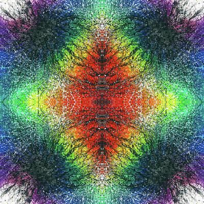 Kundalini Awakening #1554 Poster by Rainbow Artist Orlando L aka Kevin Orlando Lau
