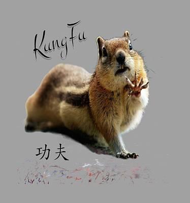 Kung Fu Chipmunk Poster