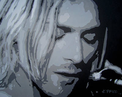 Poster featuring the painting Kurt Cobain by Ashley Price