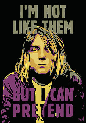 Kurt Cobain Poster by Greatom London