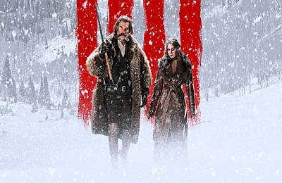 Kurt Russell Jennifer Jason Leigh The Hateful Eight Poster by Movie Poster Prints