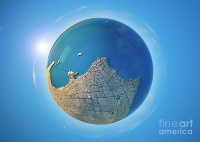 Kuwait City 3d Little Planet 360-degree Sphere Panorama Poster by Frank Ramspott