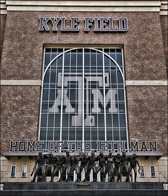 Kyle Field - Home Of The 12th Man Poster by Stephen Stookey