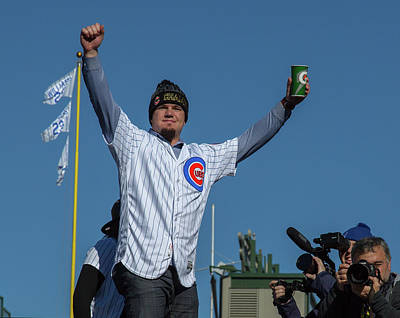 Kyle Schwarber - Cub Parade Poster by Greg Thiemeyer