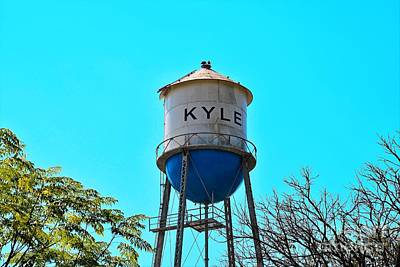 Kyle Texas Water Tower Poster