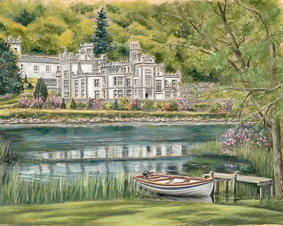 Kylemore Abbey Connemara Galway Poster by Vanda Luddy