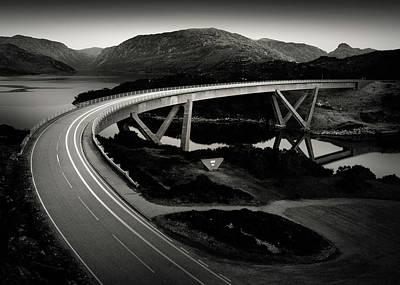 Kylesku Bridge Poster by Dave Bowman