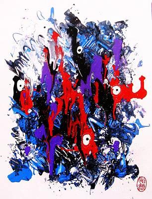 Poster featuring the painting Kyodai Ika No Hokaku by Roberto Prusso