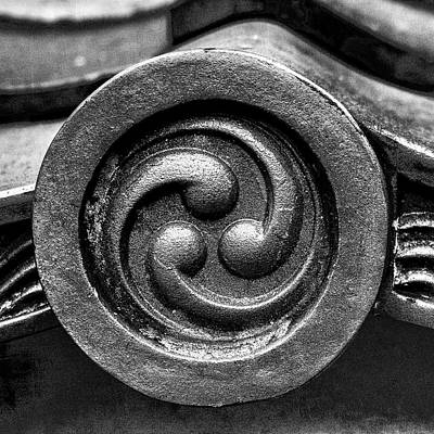 Kyoto Temple Roof Tile Detail Poster