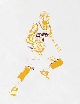 Kyrie Irving Cleveland Cavaliers Pixel Art Poster