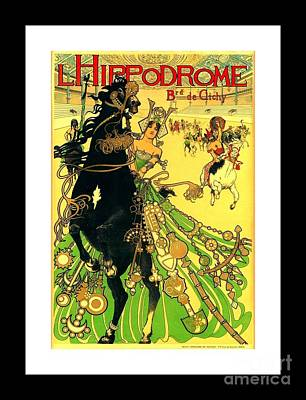 L Hippodrome 1905 Parisian Art Nouveau Poster II Manuel Orazi 1905 Poster