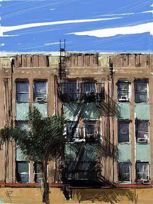 La Apartment Building Poster
