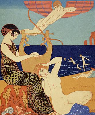 La Bague Symbolique Poster by Georges Barbier