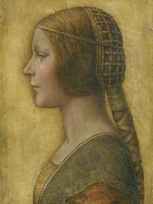 La Bella Principessa - 15th Century Poster by Leonardo da Vinci