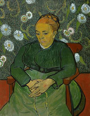 La Berceuse Portrait Of Madame Roulin Poster by Vincent van Gogh
