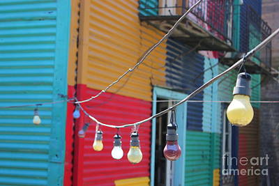 La Boca Lightbulbs Poster by Wilko Van de Kamp