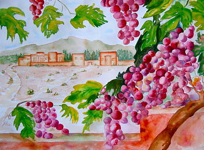 Poster featuring the painting La Casa Del Vino by Sharon Mick
