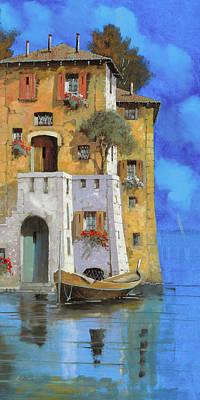 La Casa Sull'acqua Poster by Guido Borelli