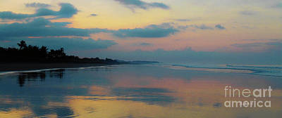 la Casita Playa Hermosa Puntarenas - Sunrise One - Painted Beach Costa Rica Panorama Poster