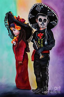 La Catrina Y El Charro Poster by Barbara Rivera