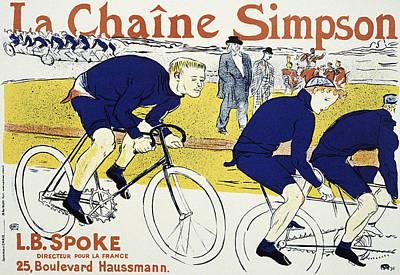 La Chaine Simpson By Toulouse Lautrec  1896 Poster by Daniel Hagerman