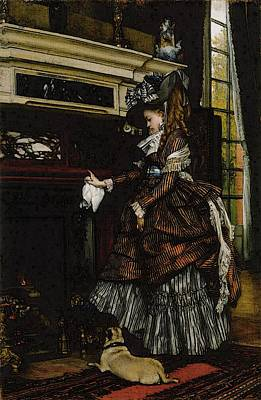 La Cheminee Poster by James Jacques Joseph Tissot