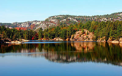 Poster featuring the photograph La Cloche Mountain Range by Debbie Oppermann