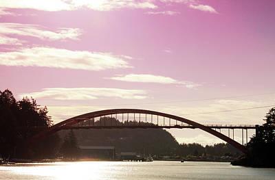 La Conner Rainbow Bridge-  By Linda Woods Poster