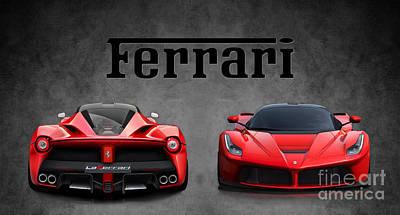 La Ferrari. Poster by Mohamed Elkhamisy