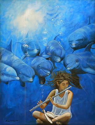 La Flautista Poster by Angel Ortiz