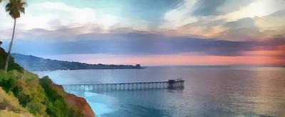 La Jolla Scripps Pier Poster by Russ Harris