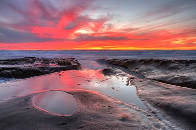 Poster featuring the photograph La Jolla Tidepools At Sunset by Nathan Rupert